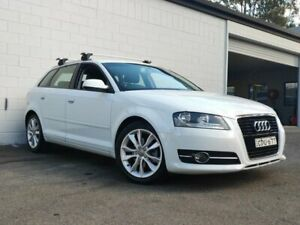 2011 Audi A3 8P MY11 TFSI Sportback S Tronic Ambition White 7 Speed Sports Automatic Dual Clutch Ashmore Gold Coast City Preview