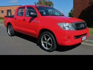 2010 Toyota Hilux 4X2 WORKMATE 2.7L PETROL MANUAL DOUBLE CAB Red Manual Devonport Devonport Area Preview