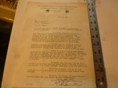 Movie Letterhead Paramount 4/10/1920 Regarding Condition Of Prints Sent-