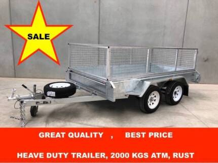 8X5 FULIY WELDED HOT DIP GALVANISED TRAILER, NEW TYRES