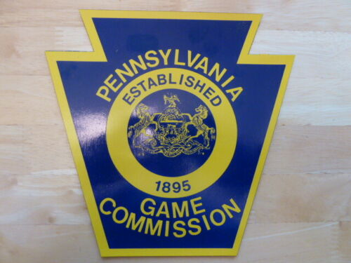 VINTAGE PA GAME COMMISSION MAGNETIC SIGN DOOR DECAL PENNSYLVANIA GAME WARDEN