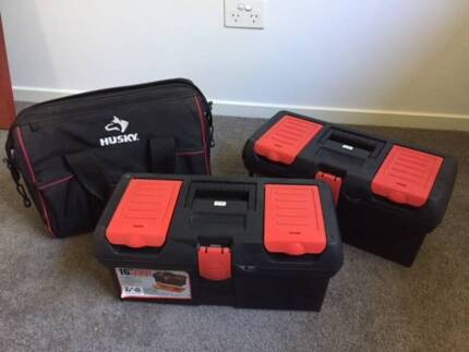 Three toolboxes, excellent condition, will separate