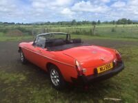 MGB Original unrestored car 7400 miles from new