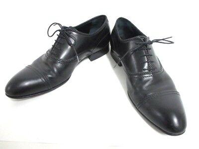 Auth LOUIS VUITTON Black Leather NI0097 Shoes Men