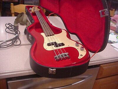 1996 Squier by Fender 50th Anniversary Precision 4 string P bass guitar .w case segunda mano  Embacar hacia Mexico