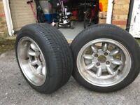 Jap/German/MINI/MX-5 4x100 stud deep dish alloy wheels
