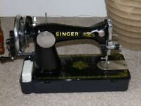 Hand Turned Singer Sewing Machine