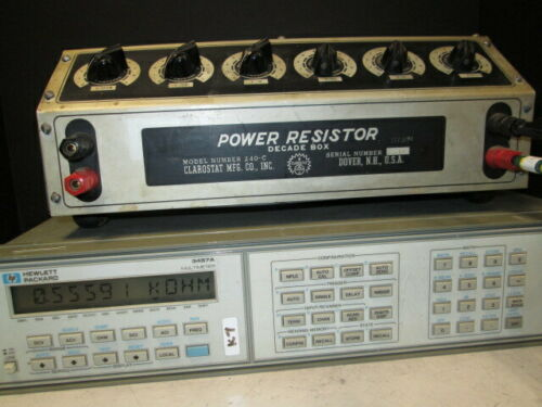 Clarostat 240-C TESTED! High Power Decade Resistor Box 1Ω - 999kΩ 225W