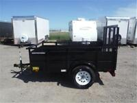 5 x 8 Solid Side Utility Trailer - 2995# GVWR, Radial Tires!