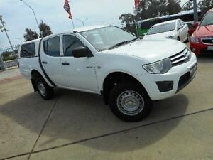 2010 Mitsubishi Triton MN MY10 GLX White 5 Speed Manual Dual Cab Utility Belconnen Belconnen Area Preview