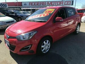 2012 Hyundai i20 PB MY12 Active Red 4 Speed Automatic Hatchback Victoria Park Victoria Park Area Preview