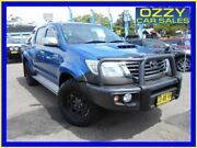 2014 Toyota Hilux KUN26R MY12 SR5 (4x4) Blue 5 Speed Manual Dual Cab Pickup Penrith Penrith Area Preview