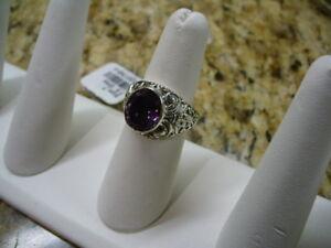 Beautiful Amethyst ladies ring, size 7.5