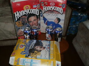 Wayne Gretzky Cans and Cereal boxes