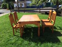 Table and 4 Chairs - solid pine