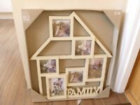 Photo Frame from Next wall hanging in the shape of house holds 6 photos