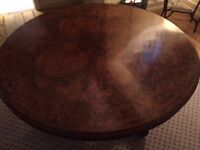 Antique centre table, circa 1870, walnut with marquetry in outstanding condition