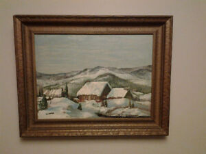 """""""OLD QUEBEC ART- COLLECTIBLE OIL PAINTING"""""""