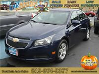 2011 Chevrolet Cruze LT, Sunroof/Moonroof, $39/Week, $173/Month