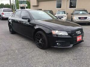 2010 AUDI A4 2.0T QUATTRO 6 SPEED STICK BLACK ON BLACK WOW
