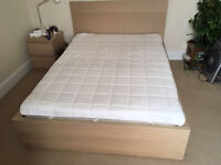 "Nearly new IKEA ""Malm"" Double Bed and mattress, both less than 6 months old"