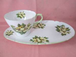Shelley English Fine Bone China Hibiscus Cup & Saucer. Morayfield Caboolture Area Preview