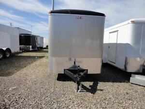 Champagne exterior 7 x 16 utility trailer