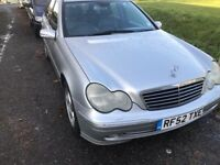 2002 AUTOMATIC MERCEDES C320 VERY GOOD CONDITION LOOKS AND DRIVES SUPER NO FAULTS