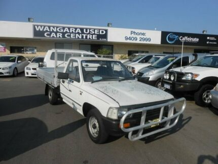 1992 Toyota Hilux RN85R White 5 Speed Manual Cab Chassis Wangara Wanneroo Area Preview