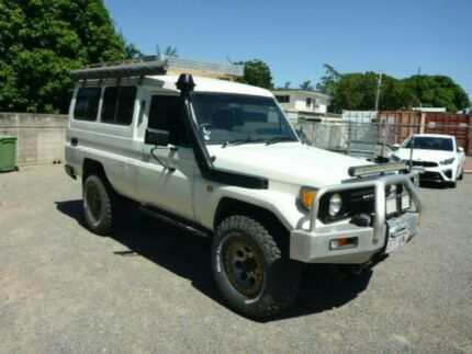 1994 Toyota Landcruiser HZJ75RV Troopcarrier White Manual Hardtop Rosslea Townsville City Preview