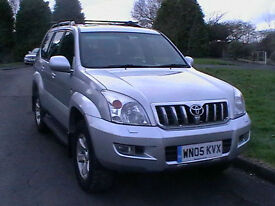 05 REG TOYOTA LAND CRUISER 3.0 D-4D AUTOMATIC DIESEL LC4 WITH 8 SEATS HPI CLEAR