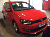 VOLKSWAGEN POLO 1.2 MATCH EDITION 3d 59 BHP + Leather Interior, Bluetooth (red) 2014