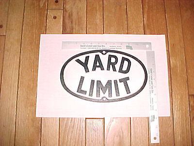 (1) Painted Oval Aluminium Replica Antique Vintage Railroad YARD LIMIT Sign