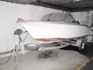 16 ft  Double Eagle  boat and trailer open  to  reasonable offer