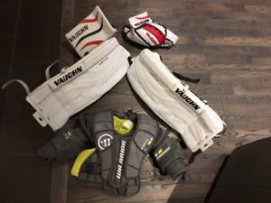 Goalie Pads, Glove, Blocker and Chest Protector