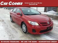 2013 Toyota Corolla S Low KM Mint Condition $129 B/W!!