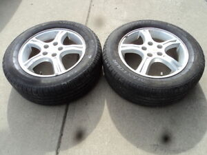 2 Maxtour Tires with alloy rims for 2005 Chevrolet Uplander