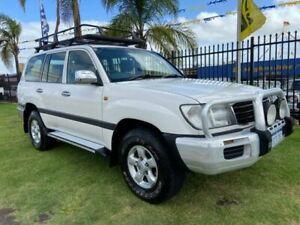 2002 Toyota Landcruiser HDJ100R GXL White 4 Speed Automatic Wagon Wangara Wanneroo Area Preview