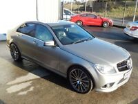MERCEDES-BENZ C CLASS C220 CDI SPORT 168BHP 4DR AUTO (FINANCE & WARRANTY (silver) 2009