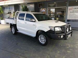 2013 Toyota Hilux KUN26R MY12 SR5 White 4 Speed Automatic 4D UTILITY Hamilton Newcastle Area Preview