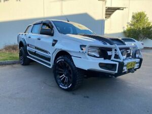 2012 Ford Ranger PX XL Cab Chassis Double Cab 4dr Man 6sp, 4x4 1262kg 3.2DT White Manual Cab Chassis Oxley Park Penrith Area Preview