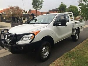 2012 Mazda BT-50 UP0YF1 XT Freestyle White 6 Speed Manual Cab Chassis Croydon Burwood Area Preview