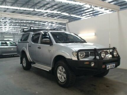 2011 Mitsubishi Triton MN MY11 GL-R (4x4) Silver 5 Speed Manual Double Cab Utility