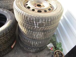 205/55 R16 MAZDA 3 WINTER TIRES AND RIMS PACKAGE (SET OF 4) - USED MICHELIN X-ICE APPROX. 85% TREAD