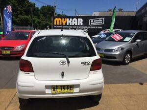 2005 Toyota Echo NCP10R Rush White 5 Speed Manual Hatchback Islington Newcastle Area Preview