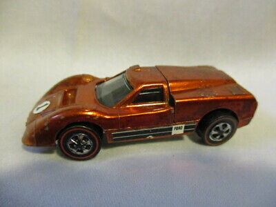 HOT WHEELS Redline Ford J-Car 1967 Rust Color Has wear but Still Good Condition!