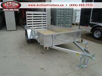 ATV,UTILITY, LANDSCAPE, ALL ALUMINUM TRAILER 5 X 10 -GREAT PRICE