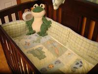 Literie bassinette grenouilles et tortue