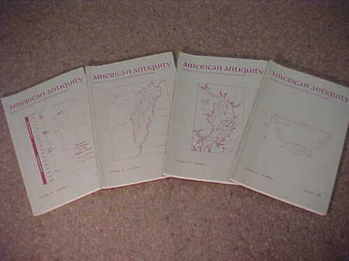 Complete set of 4-1993 American Antiquity-Journal Society American Archaeology