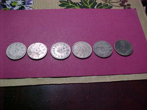 Coins Old World Foreign. total of 6. see pictures. free shipping